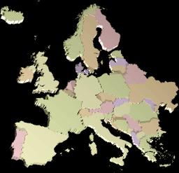 Grafik Icon Karte Europa 3D