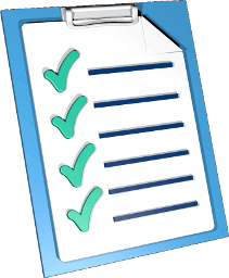 Icon Grafik Klemmbrett Checkliste