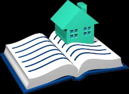 Grafik Icon Grundbuch Haus
