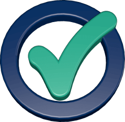 Grafik 3D Icon grünes Häkchen