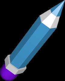 3D Icon Grafik Bleistift mit Radiergummie
