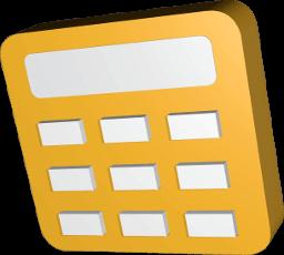 Icon 3D Grafik Taschenrechner
