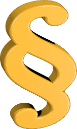 3D Icon Grafik Paragraphenzeichen