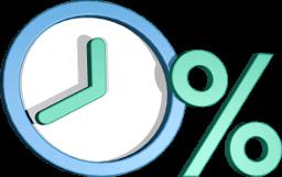 Icon Grafik 3D Uhr Prozentzeichen