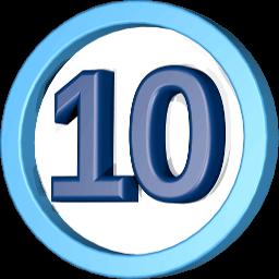Grafik 3D Icon Schild 10 Jahre