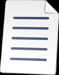 3D Grafik Icon Dokument Mietvertrag