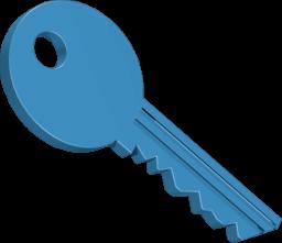 3D Icon Grafik Schlüssel