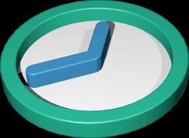 Icon 3D Grafik Uhr analog