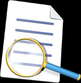 Grafik 3D Icon Dokument Lupe