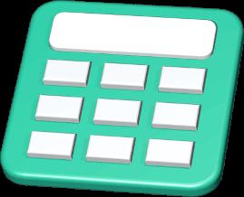 3D Icon Grafik Taschenrechner