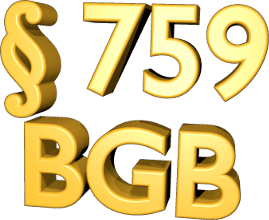 3D Icon Grafik Paragraph 759 BGB