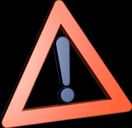 Grafik 3D Icon Warnschild Ausrufezeichen