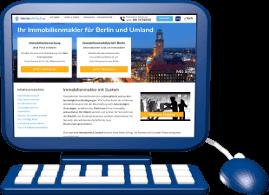Grafik Icon PC mit Webseite immoeinfach.de