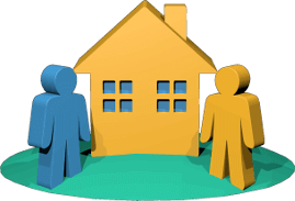 Icon Grafik Haus Grundstück Makler Käufer Kunde