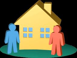 Grafik 3D Icon Haus Immobilie Besitzer
