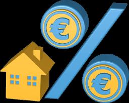 3D Grafik Icon Prozente Haus