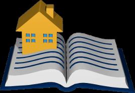 Grafik 3D Icon Grundbuch Haus
