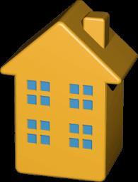 Grafik 3D Icon Mehrfamilienhaus