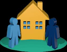 Icon 3D Grafik Haus Käufer Makler