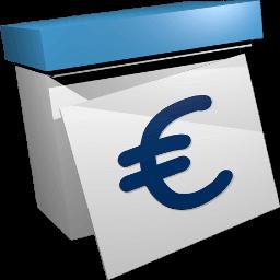 Grafik Icon Kalender mit Eurozeichen