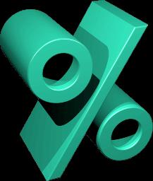 Grafik Icon Prozentzeichen