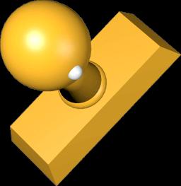 Icon 3D Grafik Stempel Holz