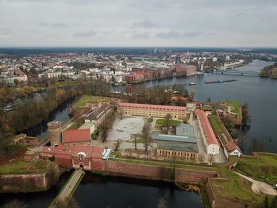 Grafik Foto Luftbild Zitadelle Spandau Berlin