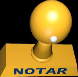 3D Grafik Icon Notar-Stempel
