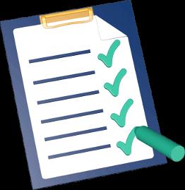 Grafik 3D Icon Klemmbrett Checkliste Stift