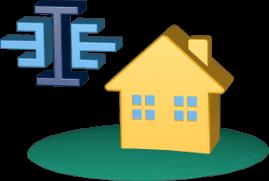 3D Grafik Icon Haus Grundstück immoeinfach.de Logo