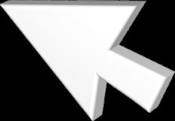 Grafik 3D Icon Cursor Mauspfeil