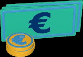 Grafik Icon 3D Geld Scheine Münzen