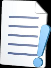 Grafik Dokument Ausrufezeichen