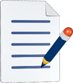 Grafik Icon 3D Dokument Stift