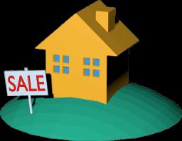 Icon 3D Grafik Haus Grundstück Immobilie zu Verkaufen