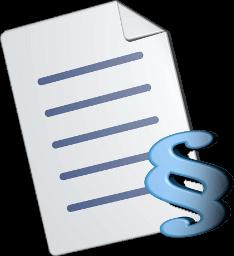 Grafik Icon 3D Dokument Paragraphenzeichen