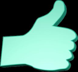 Icon 3D Grafik Hand Daumen hoch