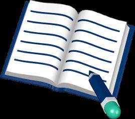 Buch Stift schreiben