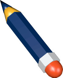Grafik 3D Icon Bleistift Radiergummi