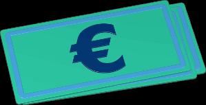 Grafik Icon 3D Euro Geldschein
