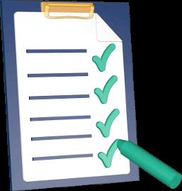 Checkliste Klemmbrett Stift