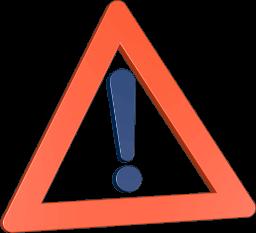 Icon 3D Grafik Warnschild Ausrufezeichen