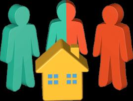 3D Grafik Icon Personen Haus