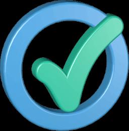 3D Icon Grafik Häkchen