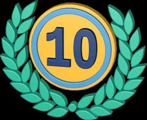 Icon 3D Grafik Lorbeerkranz Zehn Jahre