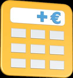Grafik 3D Icon Taschenrechner