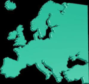 Karte Grafik 3D Europa