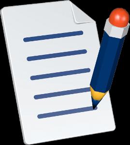 Grafik 3D Icon Dokument Stift