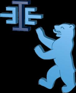 Grafik Icon 3D Logo Immoeinfach Berliner Bär blau