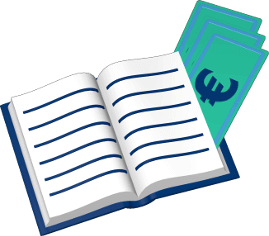 3D Grafik Icon Grundbuch Gebühren Euro